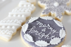 gray christmas cookies - 1 day class
