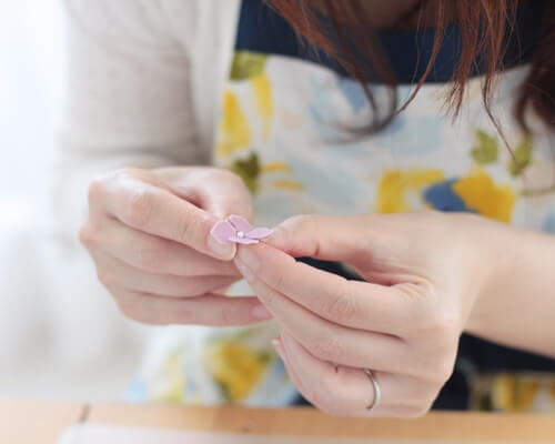 シュガー紫陽花作り方