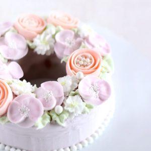 お花ケーキ作り方